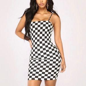 Fashion Nova Checkered Mini Dress